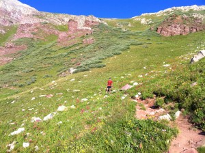 Caleb Melamed on Buckskin Pass